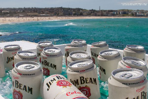 """It was a mammoth week for Big Kahuna Imagineering converting Bondi Icebergs' 50-metre Olympic pool into one giant Jim Beam esky"