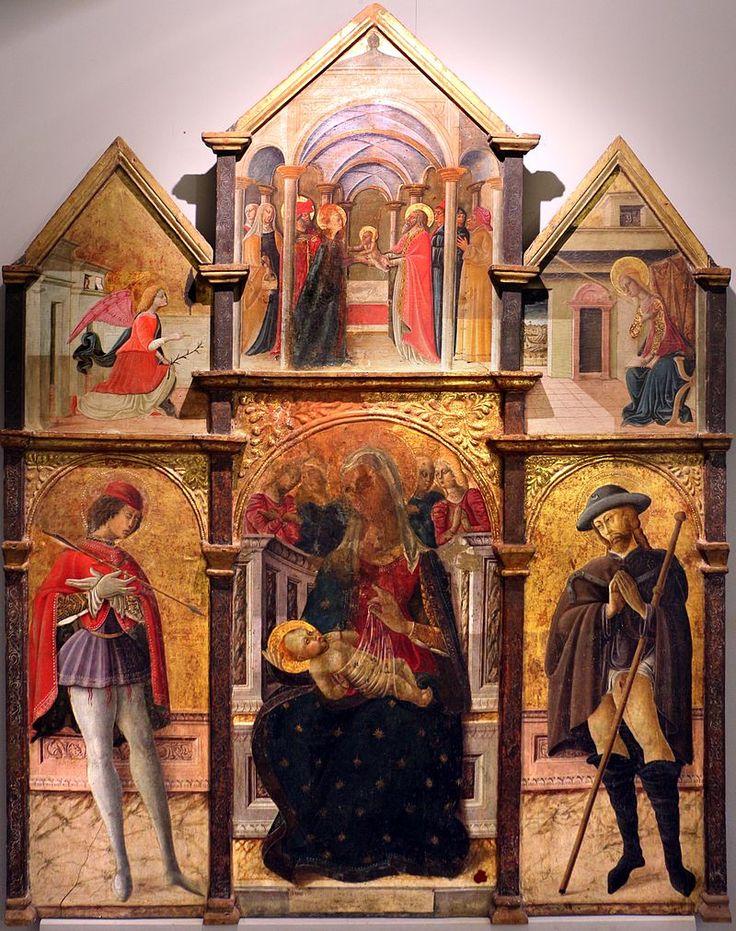 Matteo da gualdo, trittico di Nasciano