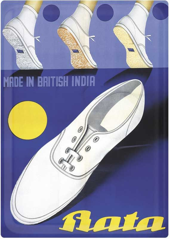 """""""Made in British India"""" Bata, undated #batashoes #bata120years #advertising"""