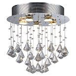"Warehouse Of Tiffany Ceiling Lights - Silver (17 X 17 X 6"")"