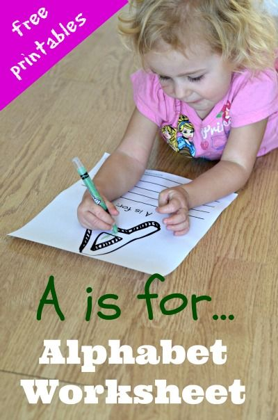 Learn the ABCs with this Free Alphabet Worksheet for Preschoolers + Printables