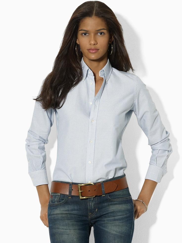 Megan Striped Oxford Shirt - Long-Sleeve   Shirts - RalphLauren.com