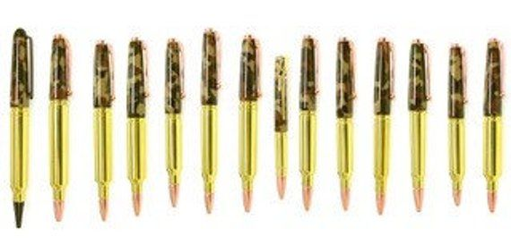 Ballpoint Rifle Bullet Pen With Rifle Pocket Clip Gun Metal Finish New