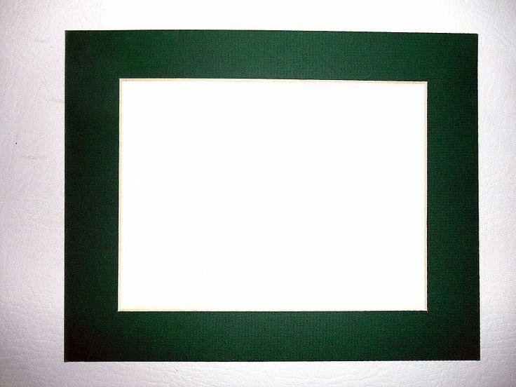 Pre Cut 8 X 10 In Hunter Green Picture Photo Framing Mat