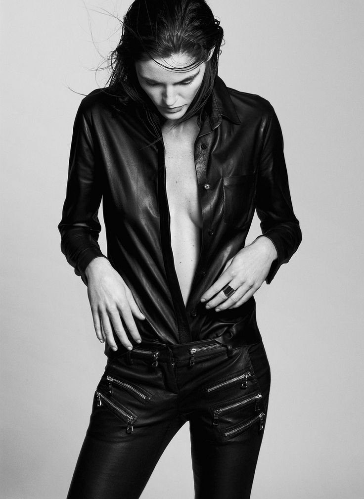 Hilary Rhoda by Santiago and Mauricio Sierra - Black and White Portraits (5)
