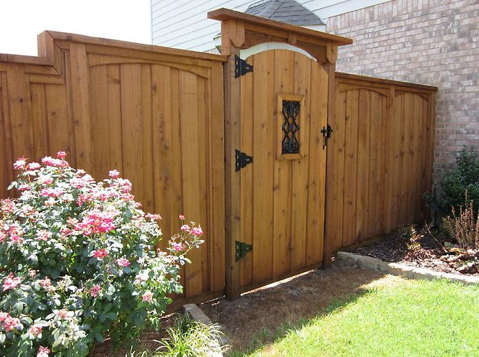 Best redwood double gate fence designs google search