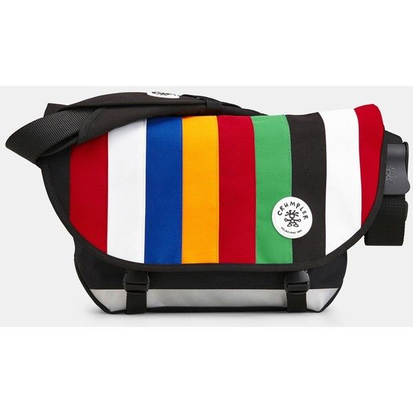 Crumpler The Barney Rustle Messenger Bag (£89) ❤ liked on Polyvore featuring bags, messenger bags, crumpler messenger bag, courier bag, messenger bag and crumpler bags