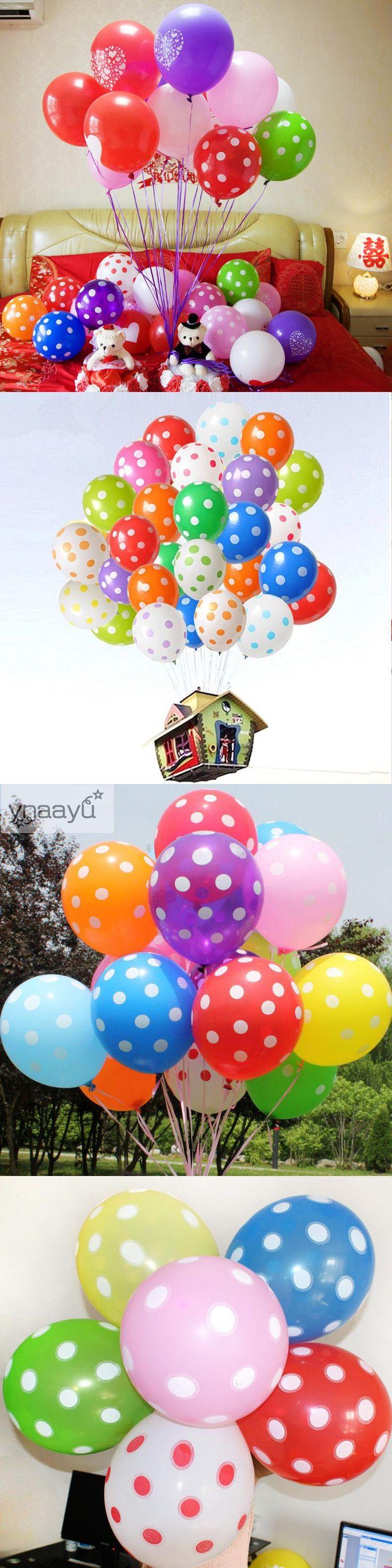 Ynaayu 20pcs/lot Latex Balloons Polka Dots Balloons 12 Inch Wedding Birthday Balloons Decoration Globos Party Ballon