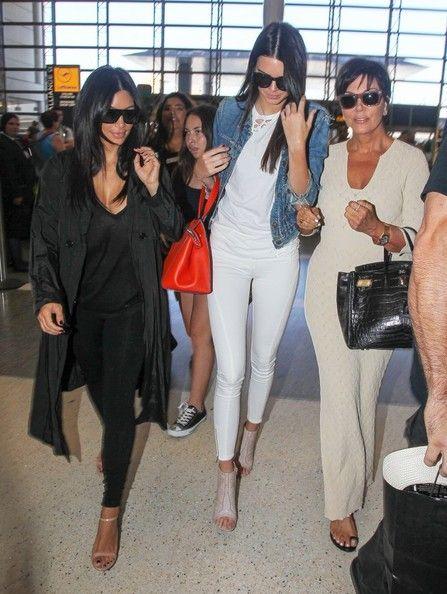 Kris Jenner Photos: The Kardashian Clan Catches a Flight