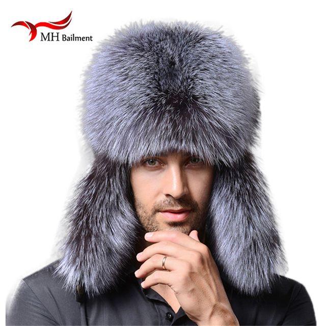 MH Bailment Mens Winter Real Rabbit Fur Russian Hats