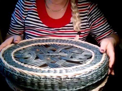 Ажуры на крышках для плетеных шкатулок. Мастер-класс, часть 1 - YouTube