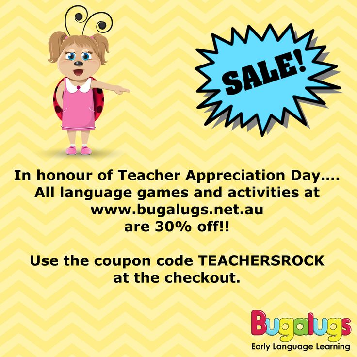Better late than never! 30% off all language games and activities with the code TEACHERSROCK at www.bugalugs.net.au!!