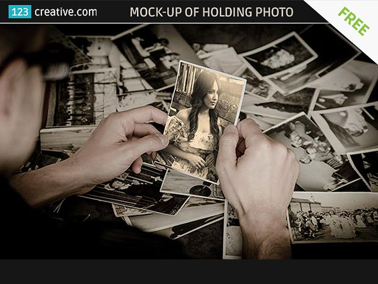 "► FREE MOCKUP OF A GUY HOLDING OLD PHOTO - high resolution vintage photo mockup template. Paste your image over my one, resize to fit, save. It will update the main file with your image which will automatically get ""vintage"" look - DOWNLOAD: http://www.123creative.com/graphic-design-resources-product-mockup-templates/1111-free-mock-up-of-a-guy-holding-old-photo.html"