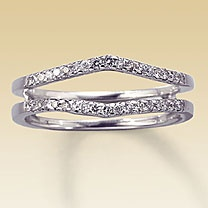 love these bands imagine it with a plain wedding ring in the middle one - Double Band Wedding Ring