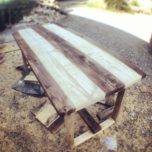 Making a Table from scaffolding planks. - JumbleTown Ireland