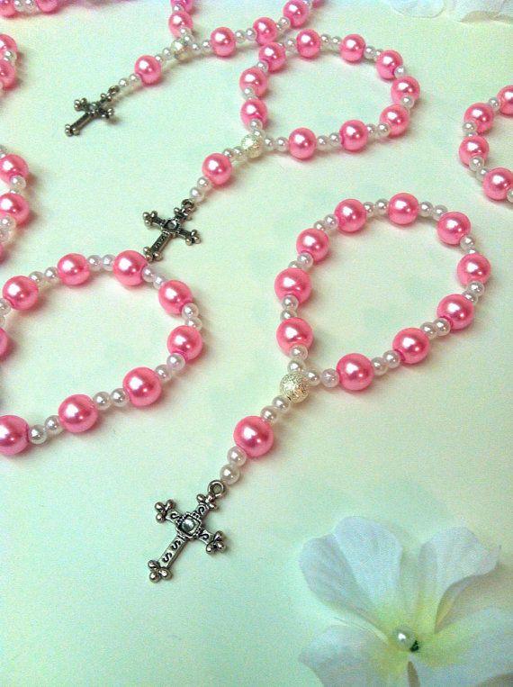 Pulseras de Rosario mini hermosa perla rosa una por Beautifyyou