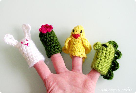 mami chips & crafts: Marionette per le dita all'uncinetto