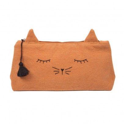 Canvas Cat Mine Pencil Case Caramel  Emile et Ida