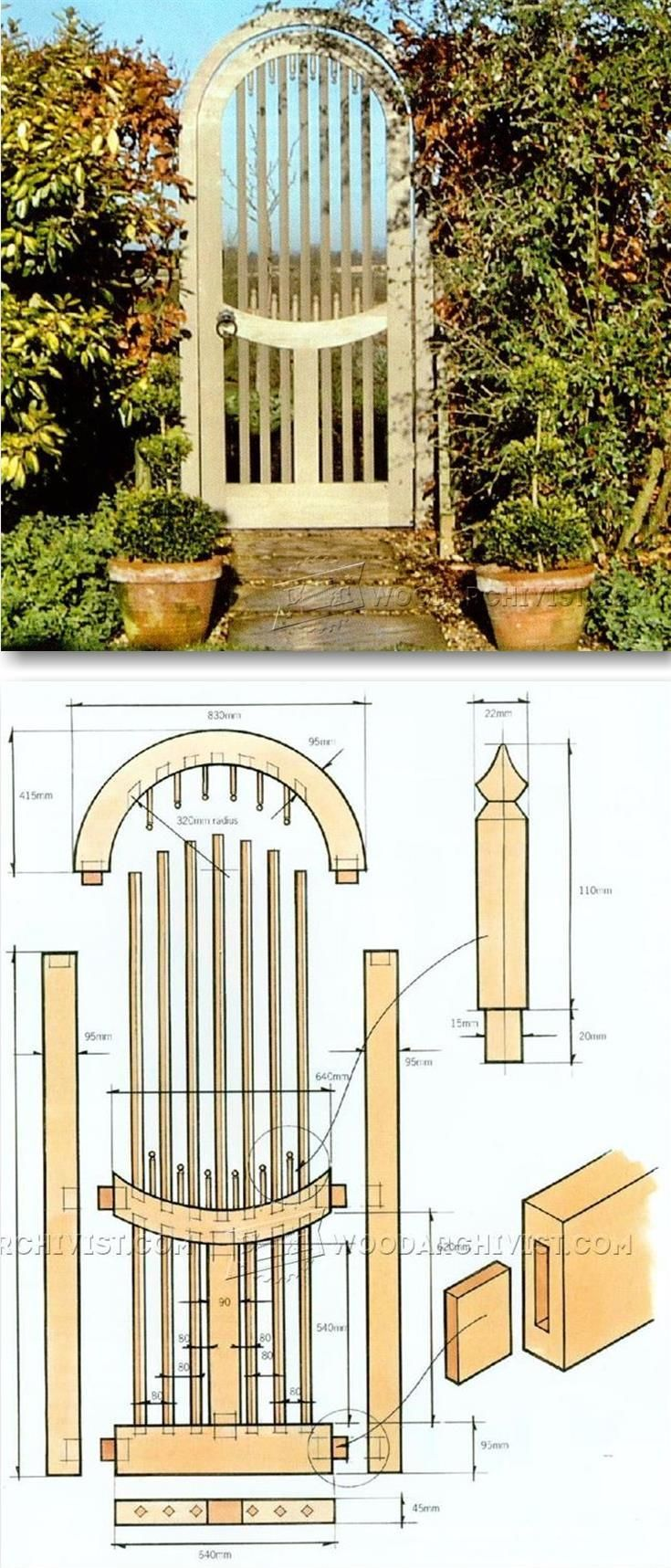 Wooden Garden Gates Plans - Outdoor Plans and Projects | WoodArchivist.com
