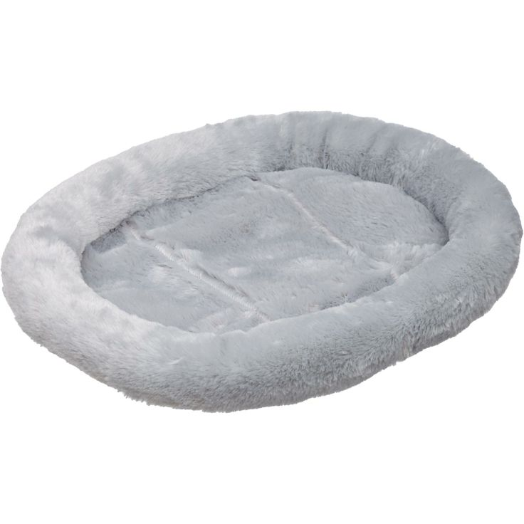 Petco Ultra Soft Oval Donut Cat Bed in Silver $8.49