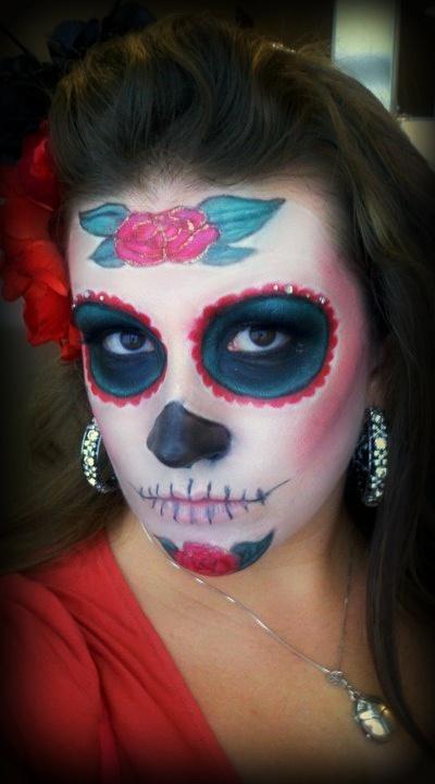 Dia de los Muertos 2010 - my own makeup that I did