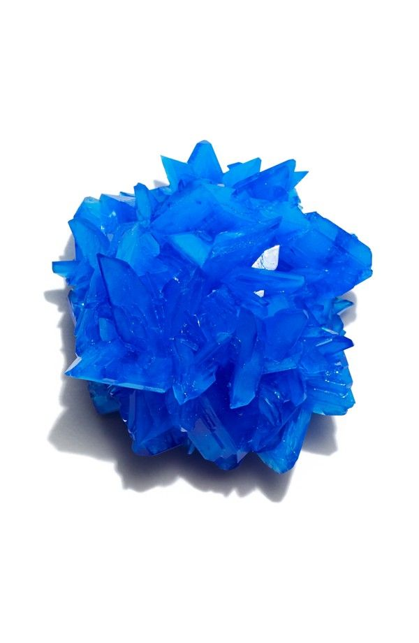 Chalcanthite  Chalcanthite is a delicate mineral admired and collected because of its intense blue color. It is a water-soluble sulfate that forms in mine walls in copper deposits. Chalcanthite has several alternative names, including blue stone, blue vitriol, and copper vitriol. http://theevolutionstore.com/store/chalcanthite-mn0011/