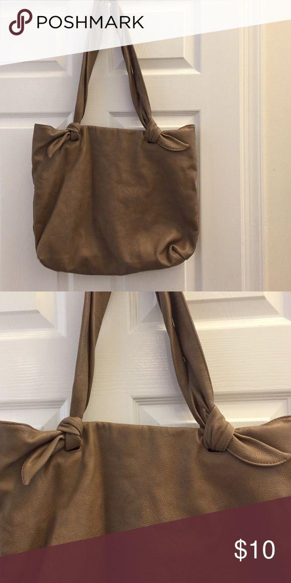 Mango pvc tote bag Large pvc tan tote bag  one interior zip pocket and 2 other small interior pockets mango Bags Totes