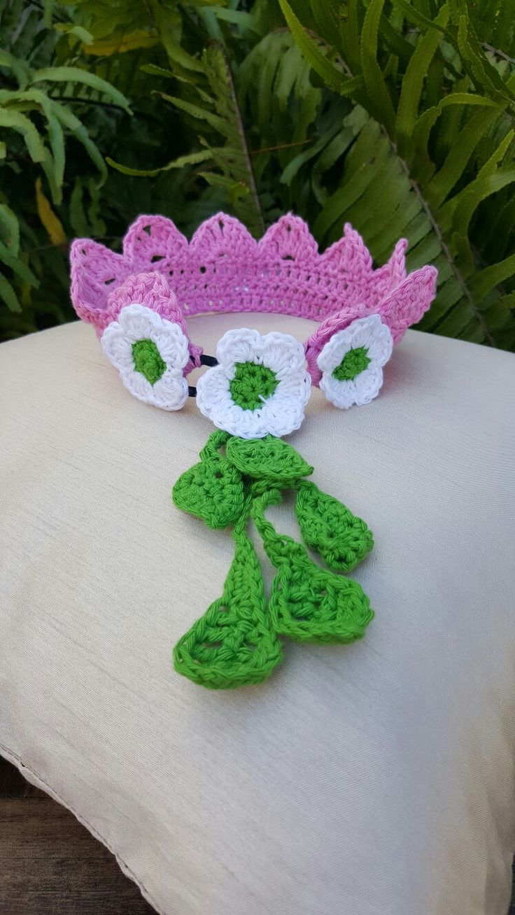 Pink Crocket Crown by Suzie Yule