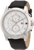 Tommy Hilfiger Watches Mens Analogue Quartz Watch 1710294- http://www.siboom.co.uk/compare-prices-compare-prices-jewellery-watches_c109814.html.html?catt=compare-prices-jewellery-watches&k=Fashion+men+watches&ppa=4 Protective Mineral Glass Window Lens  Round Stainless Steel Case with Stainless Steel Bezel  Leather Strap with Buckle  Water Resistant to 50 metres  polished stainless steel case screwed case back fluted crown with side protection m