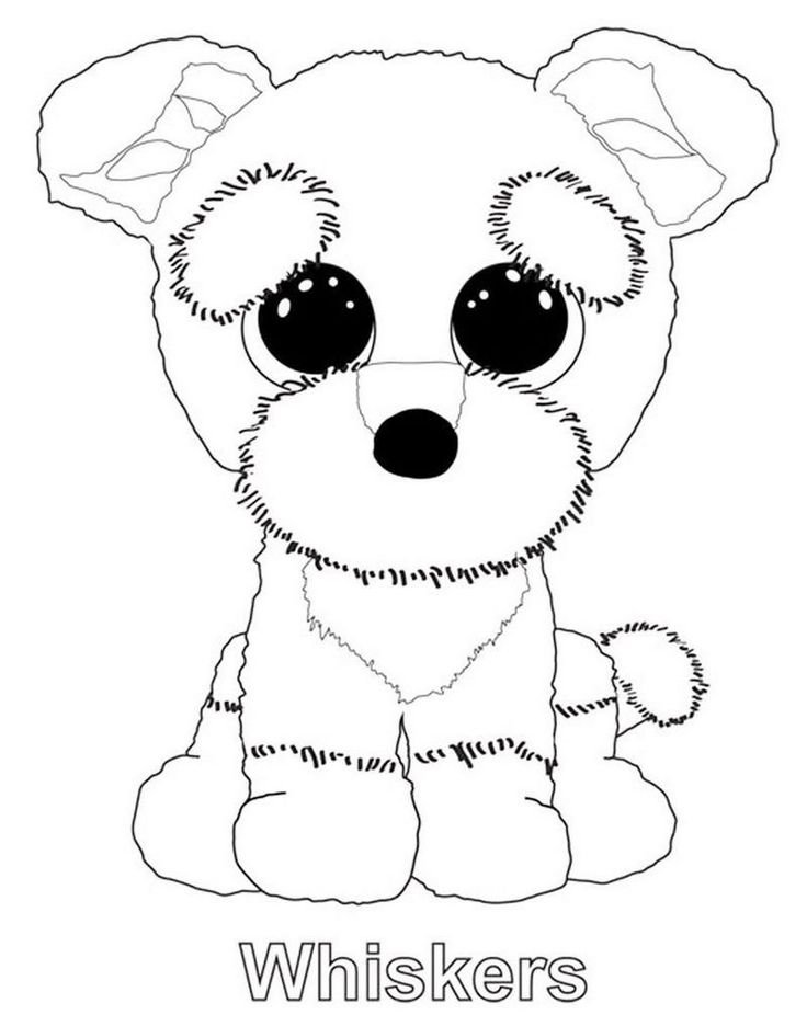 Whiskers from beanie boo coloring sheet   Teddy bear ...