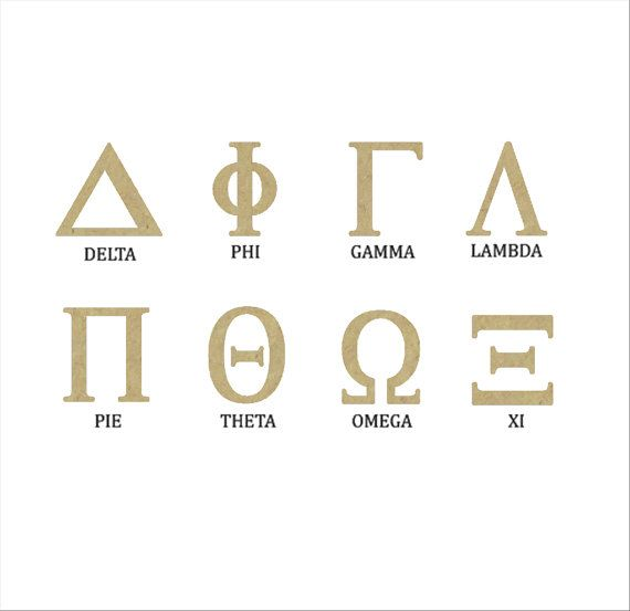 these wooden greek letters are in the ancient geek typeface they are unfinished and unpainted each letter is cut and is available in a