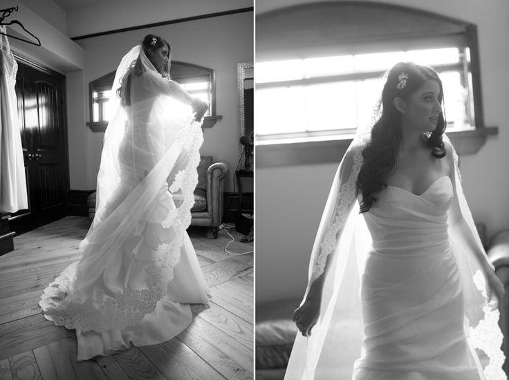 Hacienda Sarria bride just before ceremony