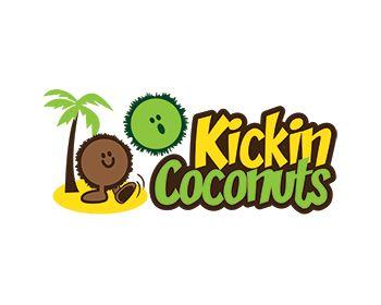 Kickin Coconuts at https://www.LogoArena.com - logo by Juppin
