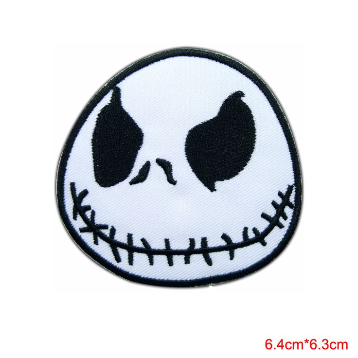 Jack Skellington Nightmare Before Christmas Movie Cartoon Sew Iron on Patch  for clothing