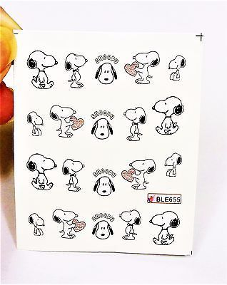 Waterdecal Snoopy With Heart Nail Decals Art Design