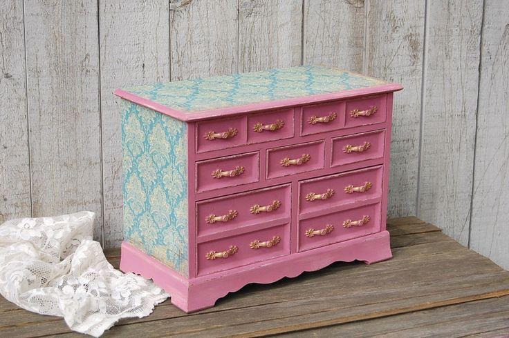 Blue & rose jewelry box