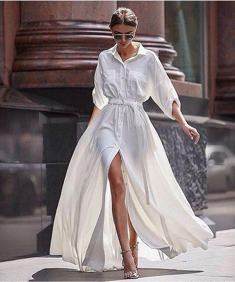 flowy | White Maxi Dress.