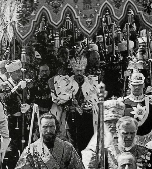 May 4, 1896 the Tsar Nicolas II left the Cathedral of the Assumption, after the Coronation I have never seen this photo before, amazing.