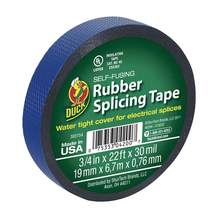 Duck Brand Blue Self Fusing Rubber Splicing Tape Protect Your Electrical Project With