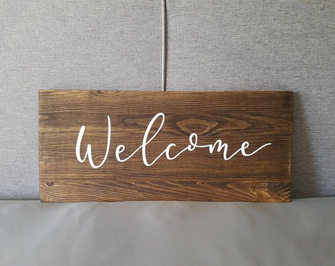 Wood Sign for Weddings or Home by ThroughRainorShine on etsy