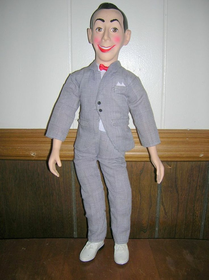 huge 18 inch pee wee herman playhouse 1980s ventriloquist doll puppet dummy toy toys puppets. Black Bedroom Furniture Sets. Home Design Ideas