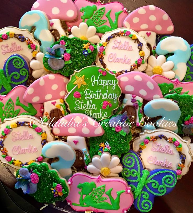 A fairy birthday party! - Claudia's Creative Cookies
