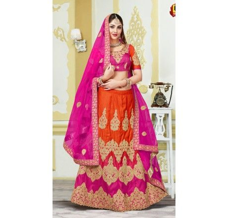 Designer Silk Lehenga choli with stone and zari work