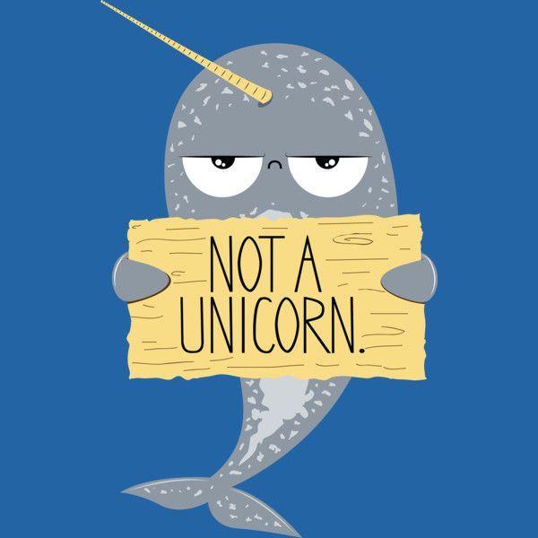 Cute Narwhal Not A Unicorn T shirt. Don't be confused. Narwhals are not unicorns.
