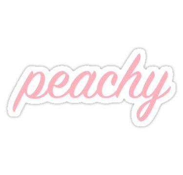 peachy | Sticker