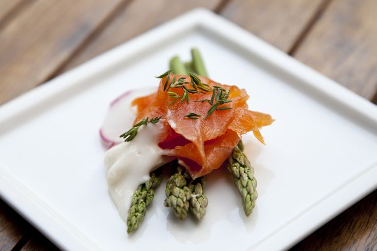 asparagus & smoked salmon... #bytesize #catering #food