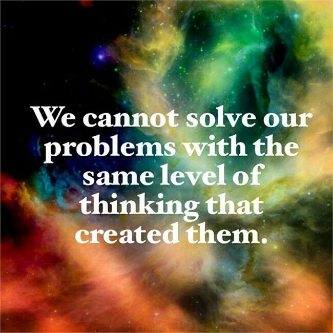 We cannot #solve #problems with the same level of #thinking that created them. #motivation #inspirational #teambeachbody #toughlove
