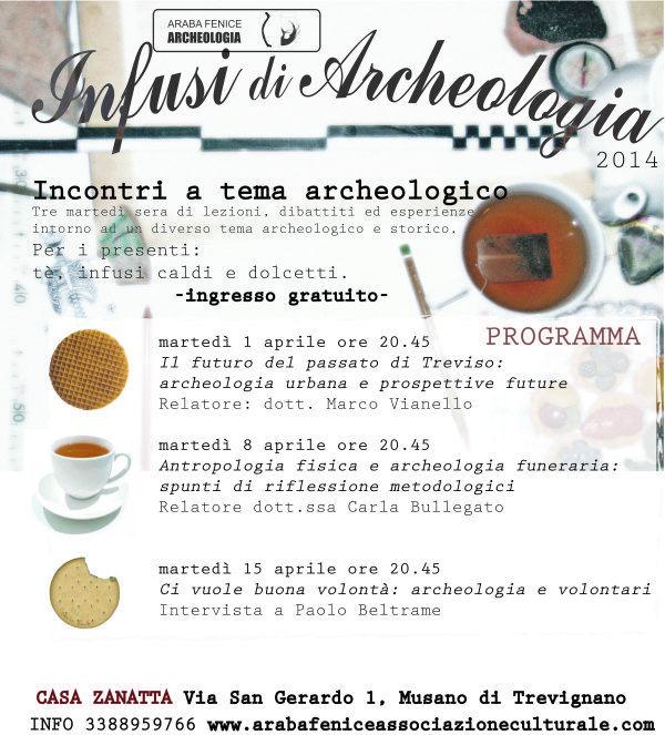 INFUSI DI ARCHEOLOGIA 2014: appuntamento trevigiano di archeologia dal 1 al 15 aprile