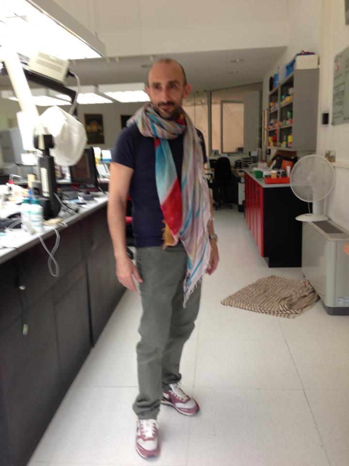 Max wearing Poesia all'alba #Shibori