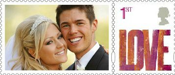 Postage stamps the personal way - Unique stamps displaying a photograph of the bride and groom. A great idea when sending invitations or thank you cards.